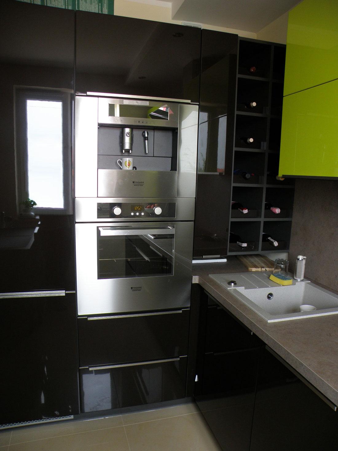 Современный, стильный и яркий кухонный гарнитур
