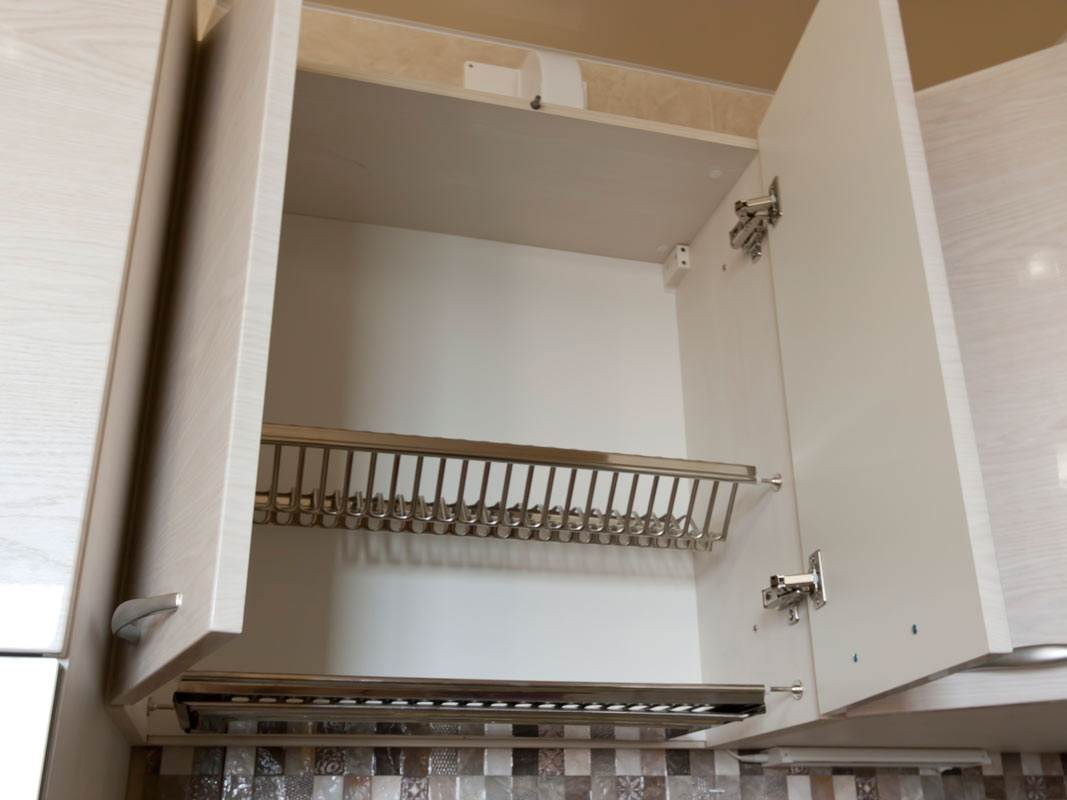 Шкафчик для посуды с сушкой из нержавейки